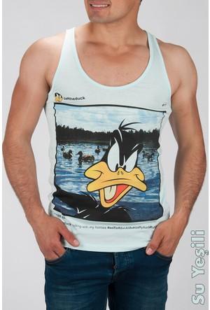 Deepsea Su Yeşili Duff Duck Baskılı Erkek Atlet 1609140-083