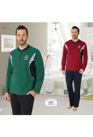 Mecit Erkek Pijama Takım 3001-M - Kırmızı