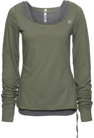 Rainbow Kadın Yeşil T-Shirt & Atlet / İki Parçalı Takım