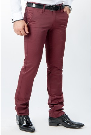 Deepsea Bordo Beyazıt Slim Fit Erkek Pantolon 1502140-016