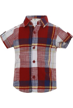 Soobe Pop Boys Kısa Kol Gömlek Kırmızı