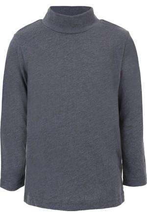 Soobe Pop Boys Yarım Balıkçı Uzun Kol T-Shirt Gri Melanj