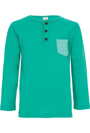 Soobe Pop Boys Cepli Uzun Kol T-Shirt Koyu Mint