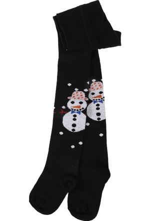 Soobe Snow Chic Külotlu Kız Çocuk Çorap Siyah