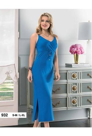 Derya Kurşun 932 Askılı Uzun Bayan Elbise