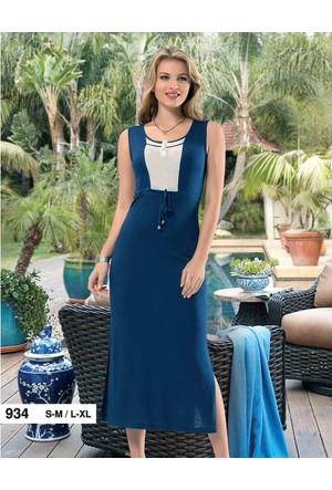 Derya Kurşun 934 Biyeli Uzun Bayan Elbise
