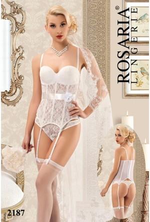 Rosaria 2187 Fantezi Jartiyer Büstiyer Takım