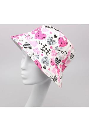 Leydika Bayan Yazlık Moda Plaj Şapkası Kalpli
