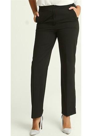 Rmg Kadın Büyük Beden Kumaş Pantolon Siyah