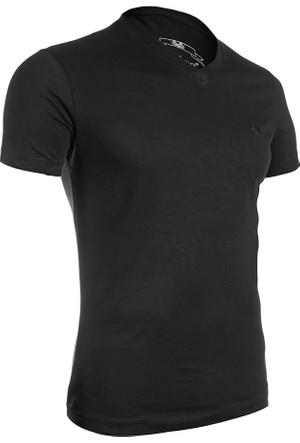 Wgust V Yaka T-Shirt (Siyah)