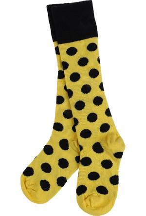 Soobe Kız Çocuk Dız Altı Çorap Sarı