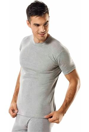 Elif Çamaşır Seher 6'lı Paket Sıfır Yaka Erkek Fanila Gri