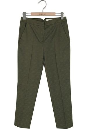 Yargıcı Beli Yırtmaçlı Cropped Pantolon