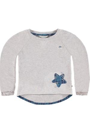 Kanz Kız Çocuk 152-4233B Sweatshirt Gri Melanj