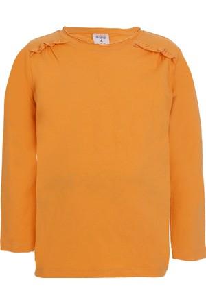 Soobe Pop Girls Uzun Kol Kız Çocuk T-Shirt Turuncu (1-7 Yaş)