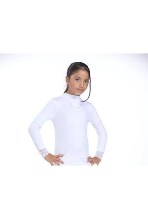 Zeyzey 2'Li Ribana Dantelli Kız Çocuk T-Shırt