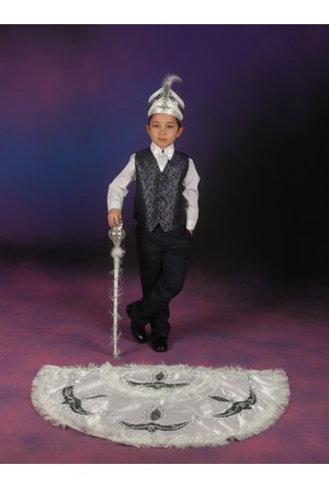 Glory Tekstil Sünnet Kıyafeti Prens Model Beyaz-Lacivert
