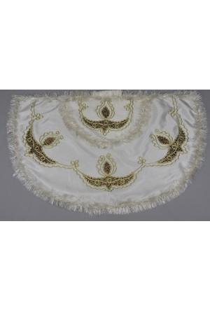 Glory Tekstil Sünnet Pelerini Prens Model Krem Rengi-Bordo