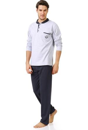 Elif Çamaşır Winlife Kışlık İnterlok Erkek Pijama Takımı