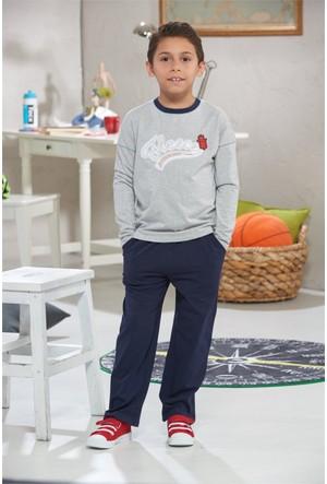 Zeyzey Nakışlı Erkek Çocuk Pijama Takımı