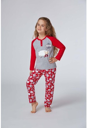 Rolypoly Kız Çocuk Pijama Takımı 5-8 Yaş