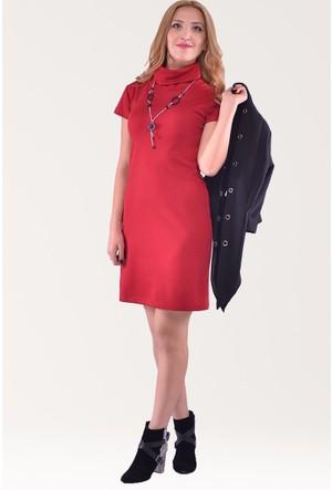 Modamla Çilek Düz Renk Kısa Elbise