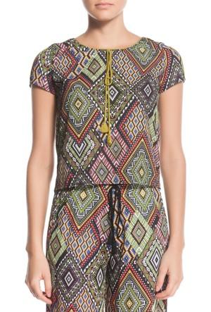 Tiffany&Tomato A3264 Desenlı Casual Bluz