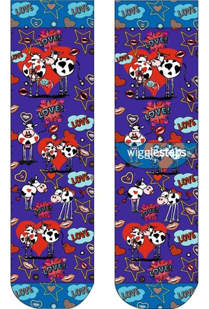 Wigglesteps Valentine Cow 2 Kadın Çorap