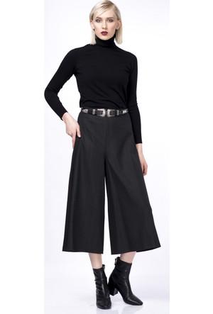 İroni Geniş Paçalı Antrasit Bol Pantolon