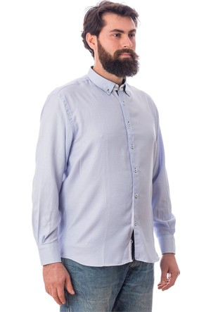 Tudors Klasik Fit Gömlek Açık Mavi Armen