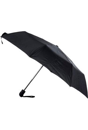 Tudors Siyah Düz Erkek Şemsiye