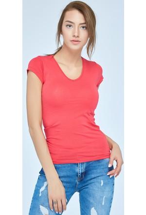 FullaModa V Yaka Basic T-Shirt 16Y205ALAT120001329