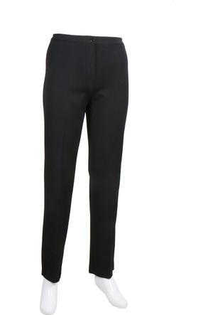 Osman Bey Battal Büyük Beden Kemerli Yüksek Bel Likralı Kumaş Pantolon Siyah