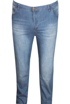 Fala Jeans Büyük Beden Kot Pantolon Buz Mavi