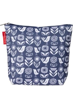 Nicky James Paper Flowers Kozmetik Çantası Koton - Kağıt Çiçekler