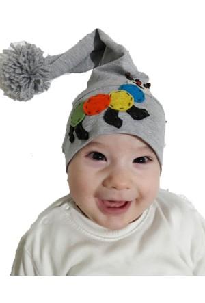 Babygiz Tırtıl Aksesuarlı Ponponlu Şapka