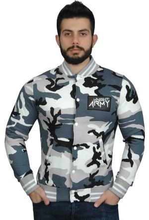 Modaroma Knıght Army Beyaz Kolej Ceket