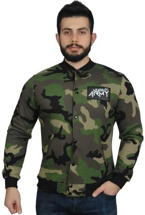Modaroma Knıght Army Yeşil Kolej Ceket Xl