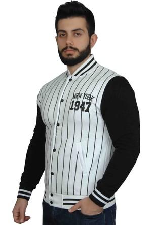 Modaroma New York 1947 Çizgili Kolej Ceket
