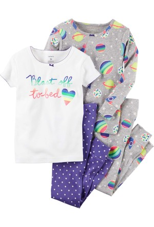 Carter's Küçük Kız Çocuk 4'lü Pijama 351G229