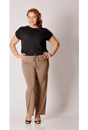Tepa Kahverengi Sandy Büyük Beden Pantolon