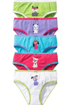 Bpc Bonprix Collection Kız Çocuk Pembe Külot (5Li Pakette)