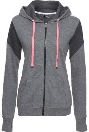 Bpc Bonprix Collection Kadın Erkek Çocuk Gri Kapüşonlu Sweatshirt