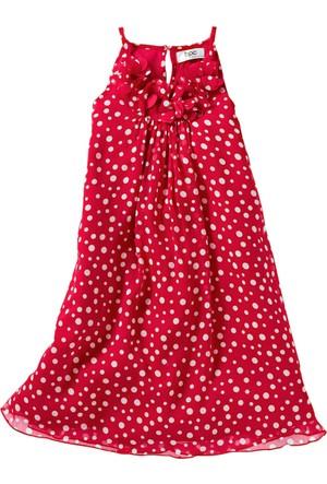 Bpc Bonprix Collection Kız Çocuk Kırmızı Şifon Elbise