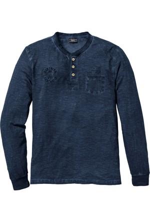 Bpc Bonprix Collection Erkek Erkek Mavi Sweatshirt Regular Fit