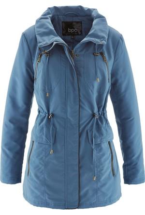 Bpc Bonprix Collection Kadın Mavi Velur Detaylı Trençkot