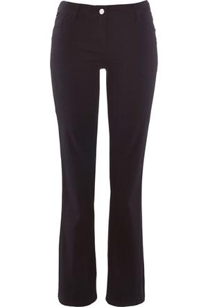 Bpc Bonprix Collection Kadın Siyah Bol Paça Pamuklu Streç Pantolon Bootcut