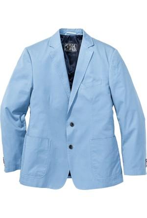 Bpc Selection Erkek Mavi Pamuklu Ceket Regular Fit