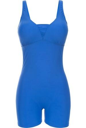 Bpc Selection Kadın Mavi Vücut Şekillendirici Mayo