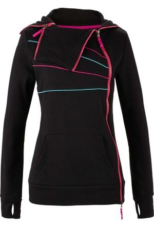 Bpc Bonprix Collection Kadın Siyah Uzun Kollu Sweatshirt